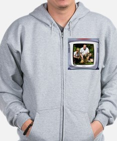 Personalizable computer screen photo frame Zip Hoodie