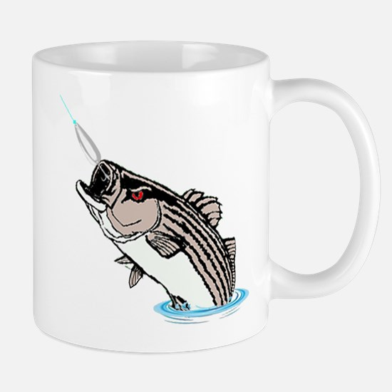 striper on a spoon Mugs