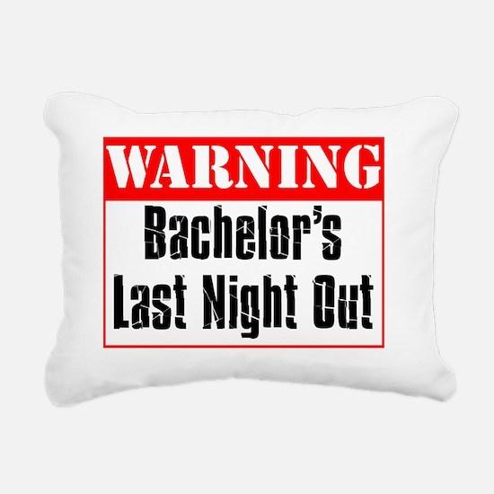Warning Bachelor Nite Ou Rectangular Canvas Pillow