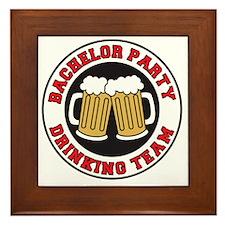 Bachelor Party Drinking Team Framed Tile