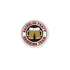Bachelor Party Drinking Team Mini Button