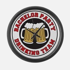 Bachelor Party Drinking Team Large Wall Clock