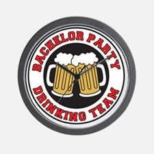 Bachelor Party Drinking Team Wall Clock
