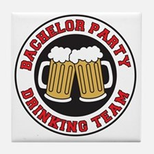 Bachelor Party Drinking Team Tile Coaster