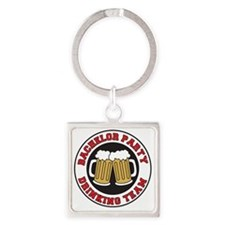 Bachelor Party Drinking Team Square Keychain