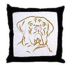 mastifflarge Throw Pillow