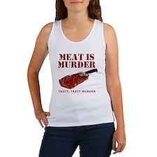 Meat is Murder Tasty Tasty Murder Women's Tank Top