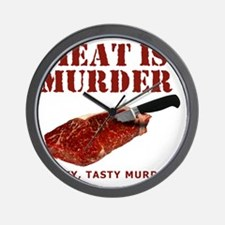 Meat is Murder Tasty Tasty Murder Wall Clock