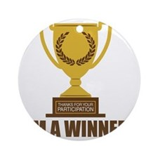 winner Round Ornament
