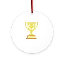 winner2 Round Ornament