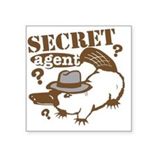 "secretagent Square Sticker 3"" x 3"""