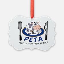 People Eating Tasty Animals Ornament