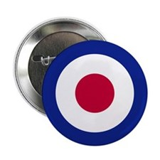 """The UK Roundel 2.25"""" Button (10 pack)"""
