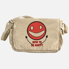 HOW TO BE HAPPY Messenger Bag