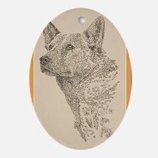 Australian_Cattle_Dog_KlineX Oval Ornament
