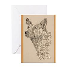 Australian_Cattle_Dog_KlineZ Greeting Card
