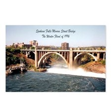 Spokane Falls Monroe St. Brid Postcards (Package o