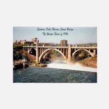 Spokane Falls Monroe St. Brid Rectangle Magnet