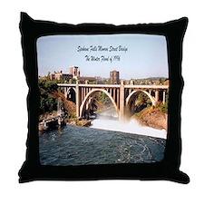Spokane Falls Monroe St. Brid Throw Pillow