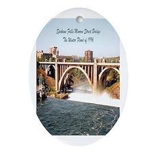 Spokane Falls Monroe St. Brid Oval Ornament