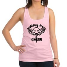 Gabester Girl trans Black by Ev Racerback Tank Top