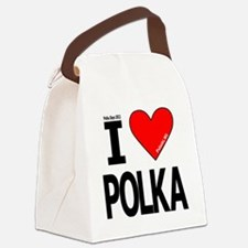 I Heart Polka Design_Revised 5 Canvas Lunch Bag