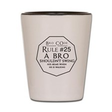 Bro-code-25 Shot Glass