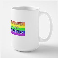 open rainbow-2 fen 75  bumper Large Mug