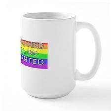 open rainbow-2 fen 75  bumper Mug