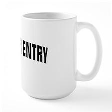 NO ENTRY BLACK Mug