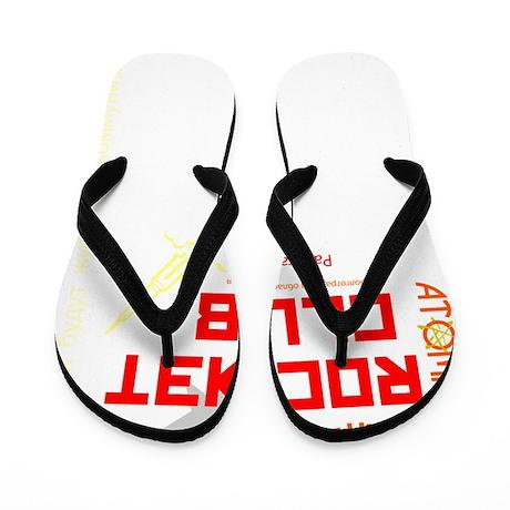 Ivans Atomic Rocket Club Red Flip Flops