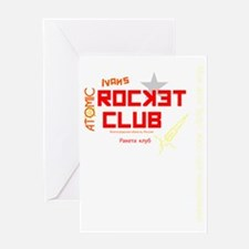 Ivans Atomic Rocket Club Red Greeting Card
