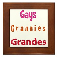 gaygranniesgrandes Framed Tile