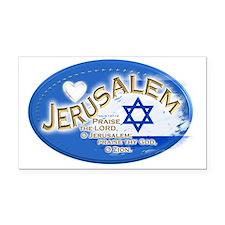 Jerusalem Rectangle Car Magnet