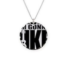 Im Gonna Uke Necklace Circle Charm
