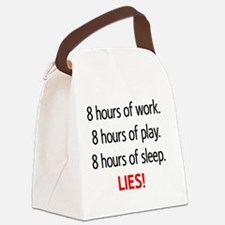 8hours copy Canvas Lunch Bag