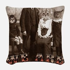 CAT_PEOPLE Woven Throw Pillow