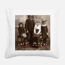 CAT_PEOPLE Square Canvas Pillow