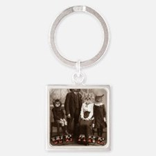 CAT_PEOPLE Square Keychain