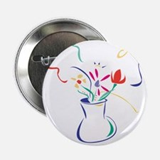 """Flowers 2.25"""" Button"""
