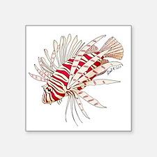 """lionfish solo Square Sticker 3"""" x 3"""""""
