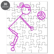 volleyball girl pink off center1.gif Puzzle