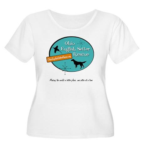 OESR50sLogoFi Women's Plus Size Scoop Neck T-Shirt