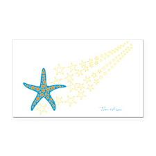 Shooting Starfish Rectangle Car Magnet