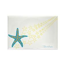 Shooting Starfish Rectangle Magnet
