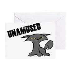 UnamusedKittyShirt Greeting Card
