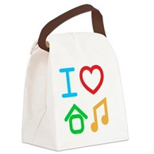 I love house music Canvas Lunch Bag