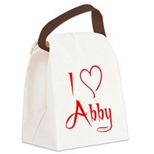 i heart abby Canvas Lunch Bag