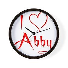 i heart abby Wall Clock