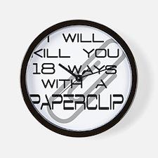 paperclip copy Wall Clock